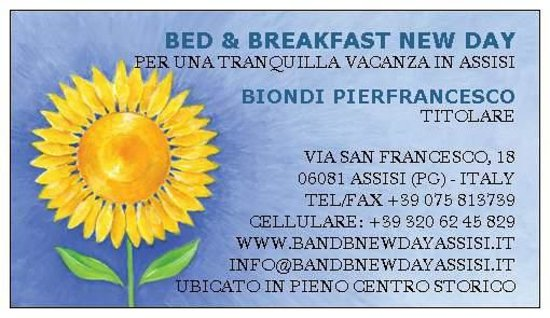 Bed and Breakfast New Day: Biglietto da visita