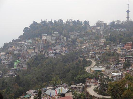 Kun Dau Residency: gangtok city from hotel room