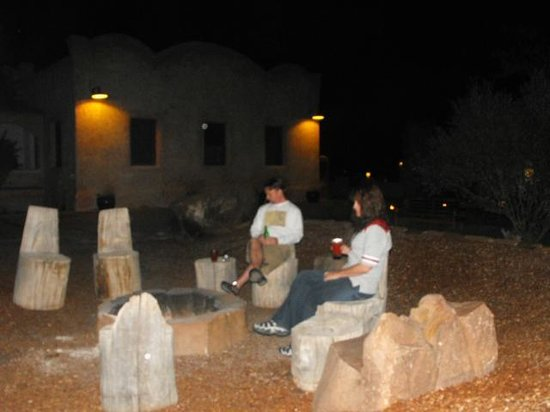 Ojo Caliente Mineral Springs Spa: Fire pit fun!