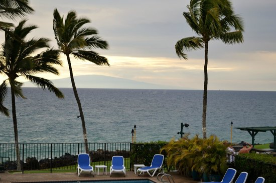 View from Unit 208 Kihei Surfside, Humpbacks in Distance