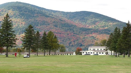 Colebrook Country Club & Motel: View down fairway #2 and 11