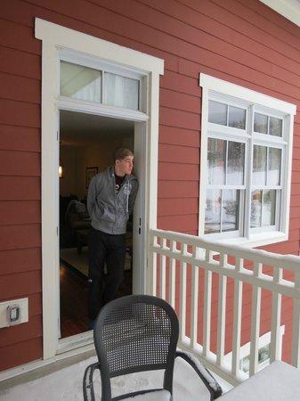 Clay Brook at Sugarbush: Our patio