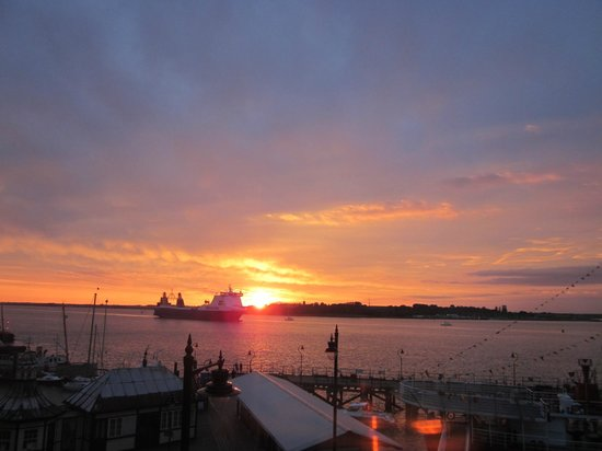 The Pier Hotel at Harwich: Sunset in Harwich
