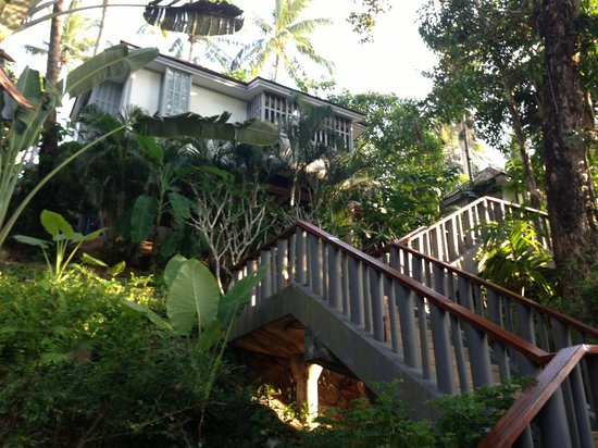 The Surin Phuket: Lots of steps up to our room