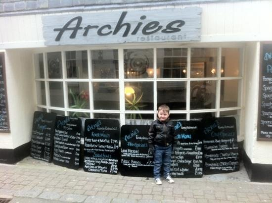 Archies: little lad's name is Archie, but he doesn't own the restaurant!