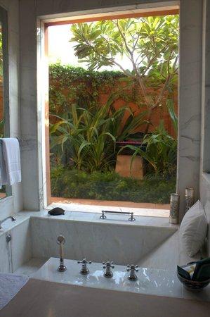 Bathroom and garden view