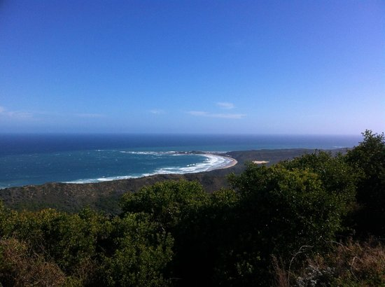 Brenton on Sea: View on the road from Knysna