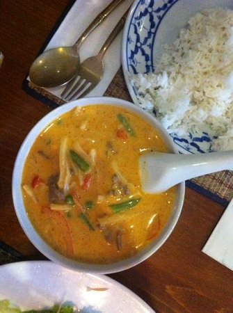 Thai Elephant: business lunch (M5) massaman curry.