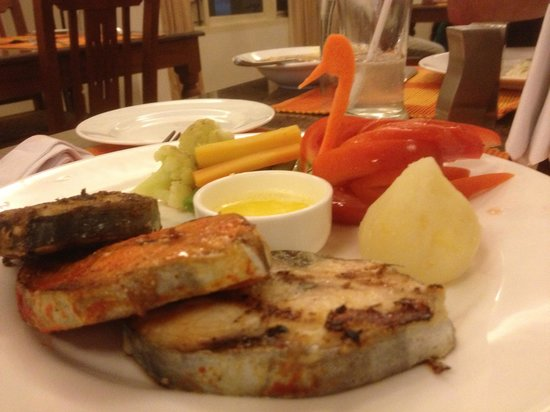 Tissa's Inn: Dinner in the hotel restaurant