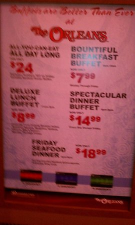 French Market Buffet : Prices