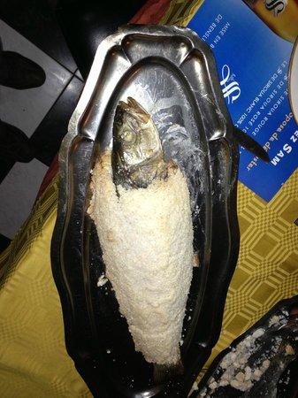 Sam's Restaurant : Sea bass after