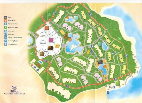 Resort Map Picture Of Hilton Marsa Alam Nubian Resort Marsa - Map of egypt marsa alam
