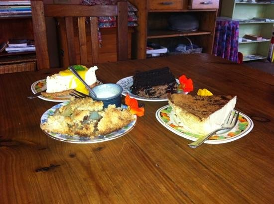 Finebush Farmstall & Country Kitchen: apple pie, milk tart, choc cake & cheese cake.