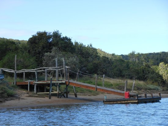 Sibuya Game Reserve & Tented Camp: Dock leading to our camp