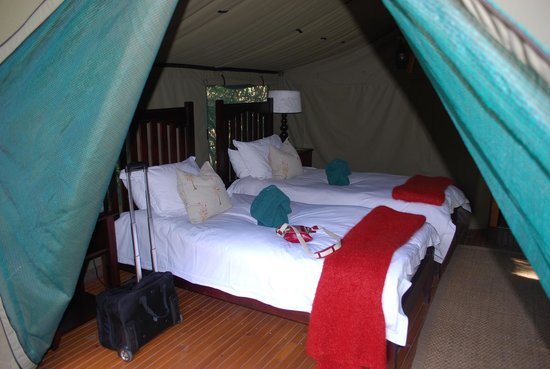 Sibuya Game Reserve: 4 -Star Luxury Tented Camps and Lodge: Inside tented camp