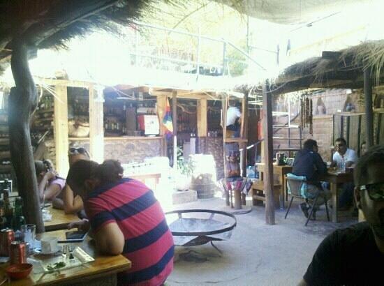 Restaurant Casa de Piedra: Esperando atención en Casa de Piedra
