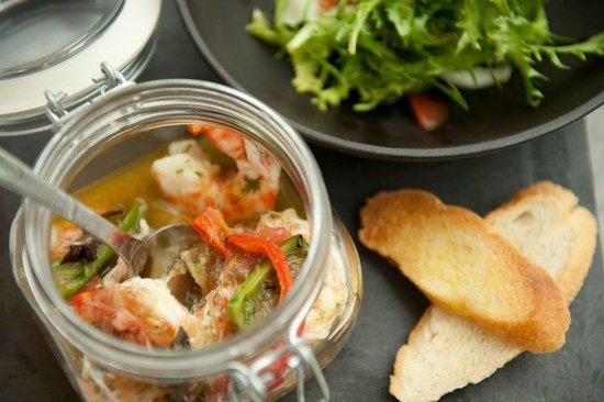 Le Bô M : Crevettes agrumes épices douces