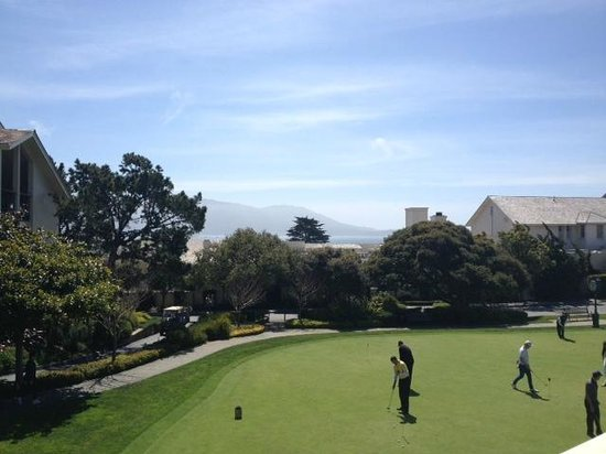 The Lodge at Pebble Beach: View from 2nd floor restaurant