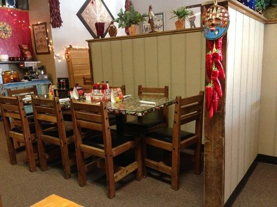 Zapata's Mexican Restaurant : the view from our booth