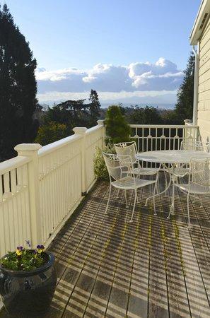 Fairholme Manor: Deck of Rose Garden Suite