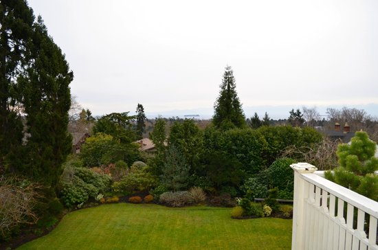 Fairholme Manor: View from deck of Rose Garden suite