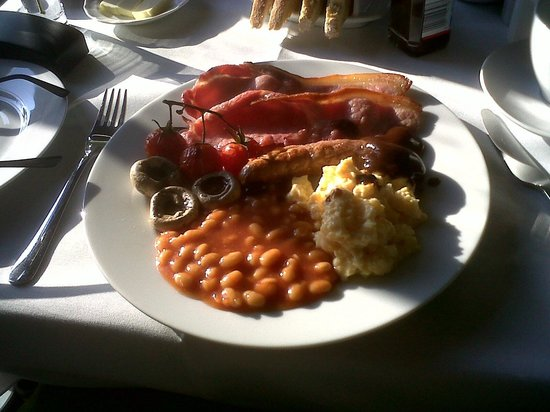 The Ferns Guest House: The superb Welsh breakfast prepared by Mark!