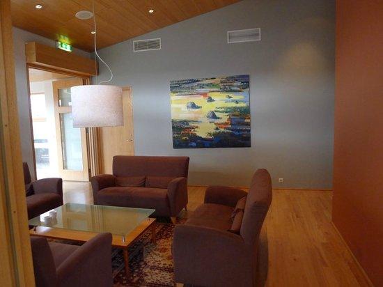 Icelandair Hotel Fludir: Sitzbereich zwischen den Gängen