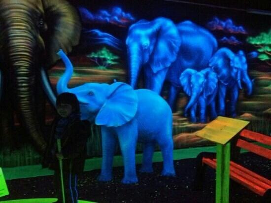 Shipwreck Golf Amusement Center: Fab black light effects