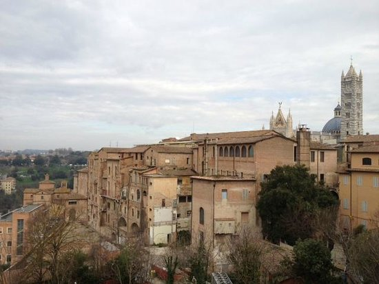 هوتل دومو: Siena Cathedral from our room