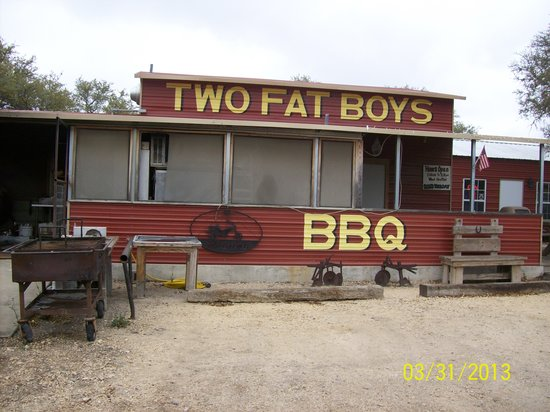 Camp Wood, Teksas: Great BBQ in the hills