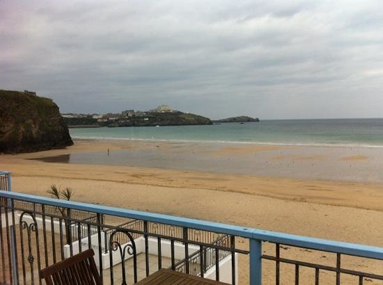 Tolcarne Beach Apartments: view from the balcony