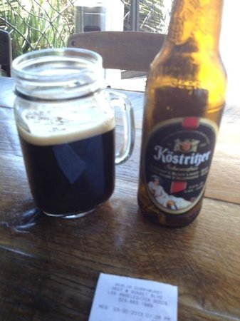 Berlin Currywurst : Dark German  Beer in a Mug