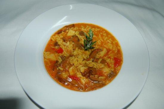 Restaurante Riberet : ARROZ MELOSO DE SEPIA Y SETAS