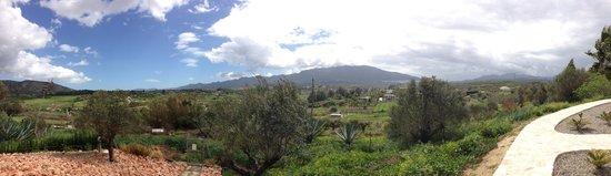 Dos Iberos Luxury Bed & Breakfast: uitzicht vanaf de rand van de tuin