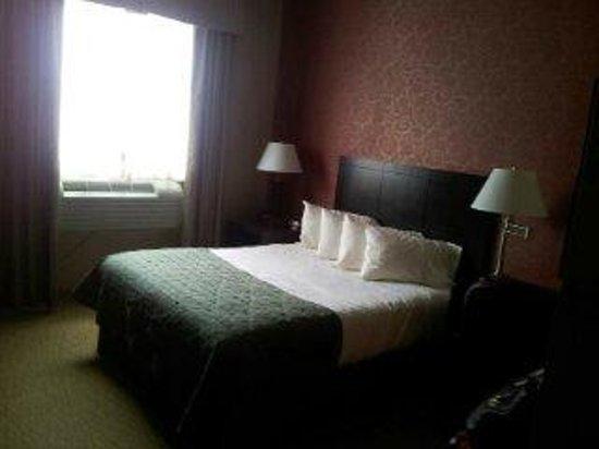 Verve Hotel, An Ascend Collection: Habitación con una sola cama. Frente a esta hay un mueble amplio para la ropa y la TV