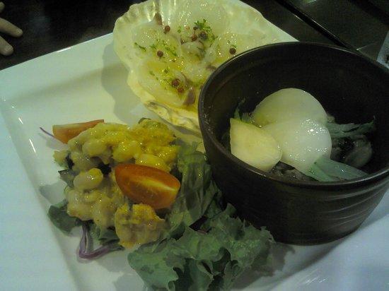 Trattoria NATIVO: 12.09.30【ナティーヴォ】前菜の3種盛り合わせ