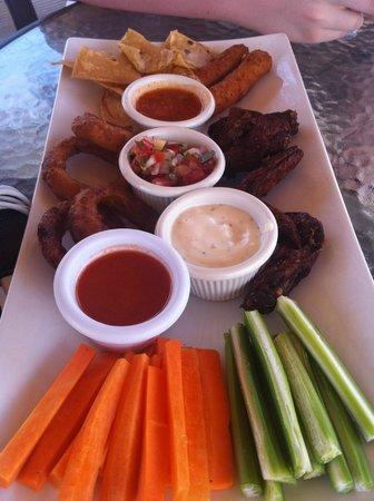 Surf Ranch Hotel & Resort: appetizer sampler.  yum