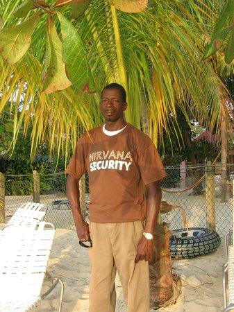Nirvana on the Beach: Erroll our beach guard