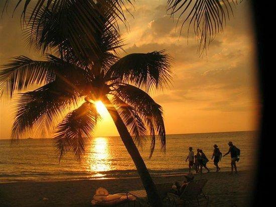 Nirvana on the Beach: beach front sunset