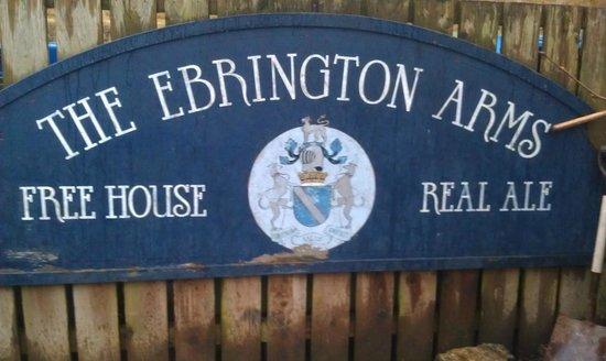 The Ebrington Arms: Sign