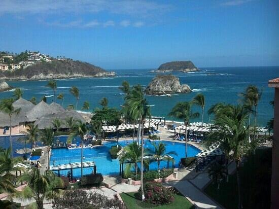 Barcelo Huatulco Beach Resort: Vista excelente desde mi habitación!!