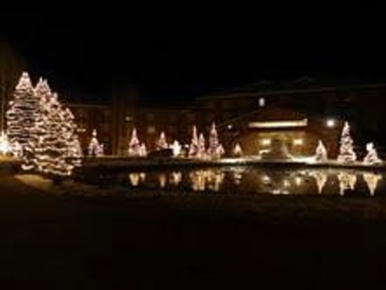 Sun Valley Lodge at night