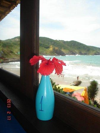 Rocka Beach Lounge & Restaurant: la vista del restó