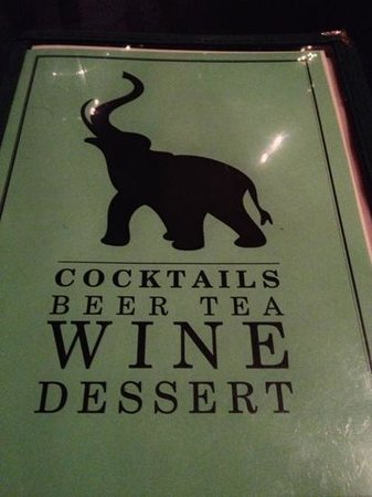 Pink Elephant Restaurant and Cocktail Bar: wine and deserve menu