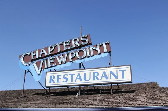 Chapters Viewpoint Restaurant : the sign