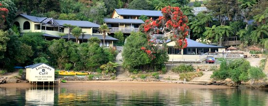 Lochmara Lodge - Wildlife Recovery and Arts Centre: Lochmara from the water