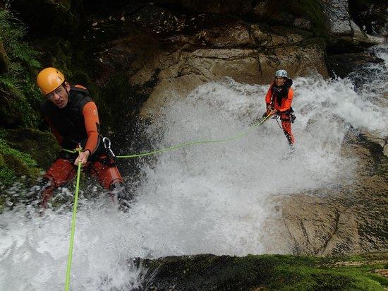 Abel Tasman Canyons: Abseiling Down a Waterfall