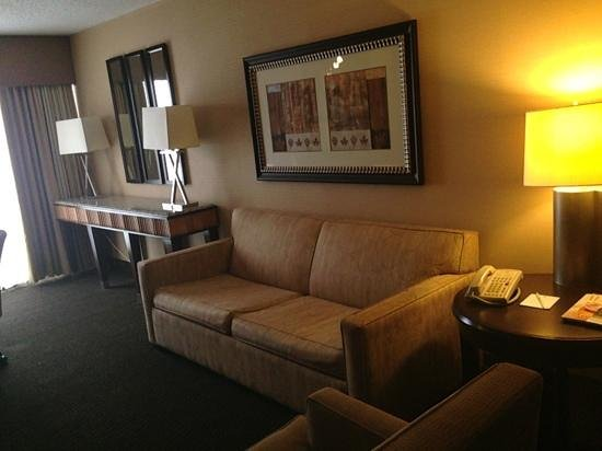Embassy Suites by Hilton Birmingham: view of pull out couch/living room