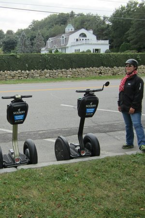 Segway of Newport: Tour guide and her Segway at our first route stop,