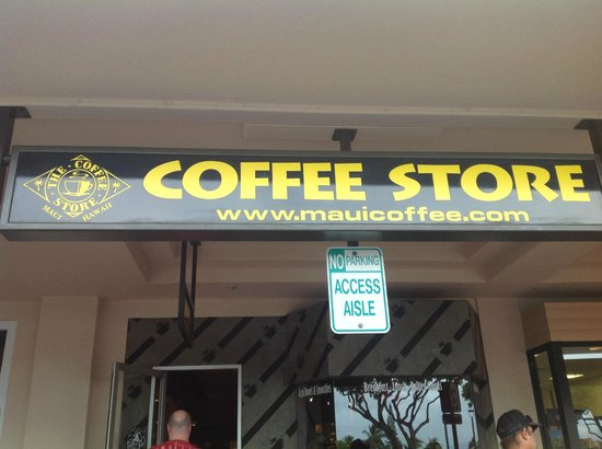 The Coffee Store Napili: Store sign from outside